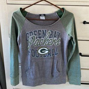 NFL Green Bay Packers off the shoulder sweatshirt